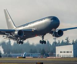Boeing KC-46A Tanker for U.S. Air Force Passes First Flight