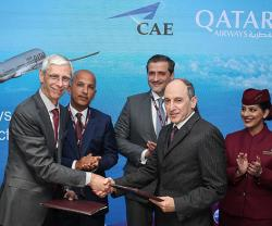 CAE, Qatar Airways Sign Aviation Training Solutions Contract