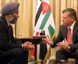 Canadian Defense Minister Concludes Visit to Jordan