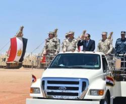 Egyptian President Inspects Mohamed Naguib Military Base