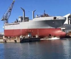 """Fincantieri Launches """"Antonio Marceglia"""" Frigate"""