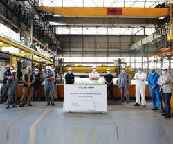 Fincantieri: Steel Cutting of Forward Section for Chantiers de l'Atlantique