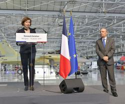 French Minister of Armed Forces Visits Dassault Aviation