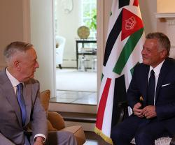 Jordanian King Meets US Secretary of Defence, National Security Adviser