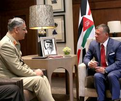 Jordanian King Receives Chief-of-Staff of Pakistan's Army