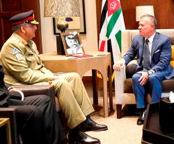 Jordanian King Receives Pakistan Army Chief