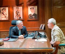 Jordanian King Visits Armed Forces General Command, Gendarmerie Directorate