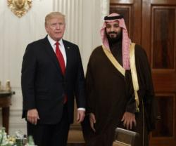 Saudi Deputy Crown Prince Meets Donald Trump
