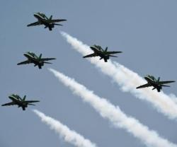 Saudi Falcons Mark Pakistan's 70th Anniversary