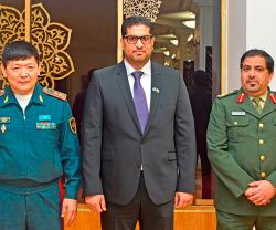 Kazakh Ministry of Defense Honors UAE Ambassador, Military Attaché
