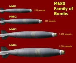 Kuwait Orders Various Mk-Series Bombs from U.S.