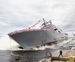 Lockheed Martin-Led Team Launches Littoral Combat Ship 21