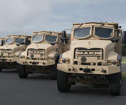 Mack Defense Starts Production Test of U.S. Army's Armored Heavy Dump Trucks