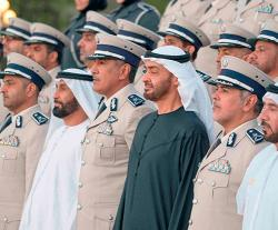 Mohamed bin Zayed Receives Abu Dhabi Police Delegation