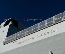 "Ninth FREMM ""Spartaco Schergat"" Frigate Launched"