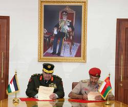 Oman, Jordan Sign MoU in Military Cooperation