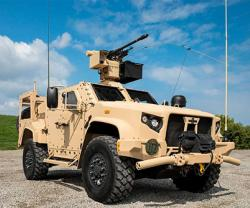 Oshkosh Defense Exhibits Joint Light Tactical Vehicle at IDEX