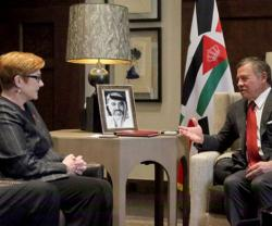 Jordanian King Meets Australian Defense Minister