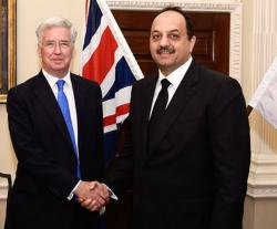 Qatar's Defense Minister Meets British Counterpart