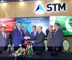 STM Signs DoU in Cyber Security at IDEAS 2018