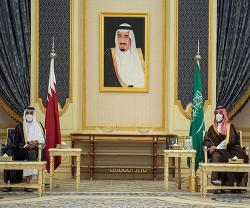 Saudi Crown Prince, Emir of Qatar Hold Talks in Jeddah