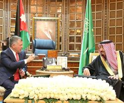 Saudi King, Crown Prince Receive Jordan's King