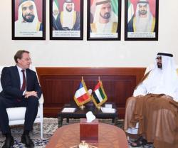 UAE Defense Minister Receives French Ambassador