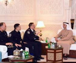 UAE Interior Minister, NYPD Delegation Discuss Security Cooperation