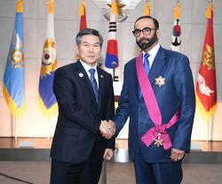 UAE Minister for Defense Affairs Receives South Korean Award