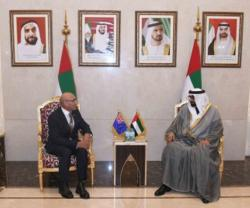 UAE Minister of State for Defense Affairs Meets New Zealand Counterpart