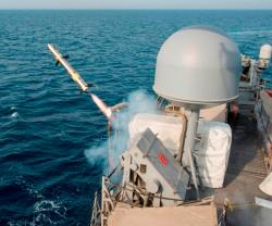 Coastal Patrol Ships Test Fire Griffin Missile in Arabian Gulf
