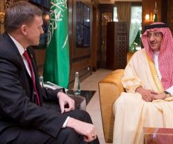 Saudi Crown Prince Receives Director of US National Security Agency