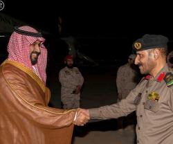 Saudi Defense Minister Inspects Air Defense Units in Najran