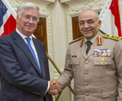 Egypt's Armed Forces Chief Meets UK Defence Secretary