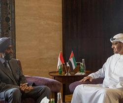 Crown Prince of Abu Dhabi Meets Canadian Defense Minister