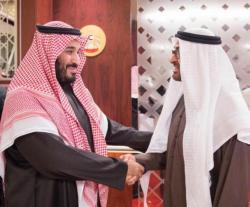 Crown Prince of Abu Dhabi Receives Saudi Defense Minister