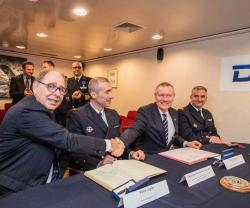 DCNS Delivers 5th FREMM Frigate Languedoc to French Navy