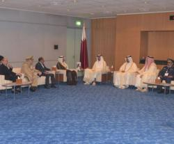 Qatar's Emir Meets Defense Ministers, Chiefs-of-Staff Attending DIMDEX