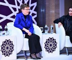 Lockheed Martin's Lorraine Martin Speaks at the Women in Industry Forum in Abu Dhabi