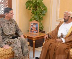 Oman's Minister for Defense Affairs Receives US, UK Officials