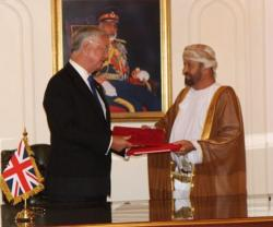 UK Defense Secretary Visits Oman