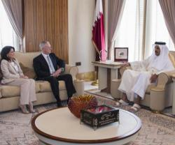 Qatar's Emir Meets US Defense Secretary