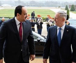 Qatar's State Defense Minister Meets U.S. Defense Secretary