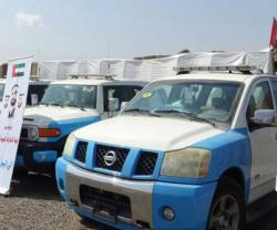 UAE Supplies New Vehicles, Equipment to Aden Police