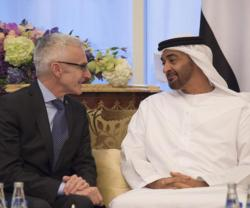 Mohamed bin Zayed Receives INTERPOL Secretary General