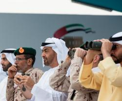 Abu Dhabi Crown Prince Attends Union Fortress Military Show