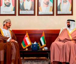 UAE Defense Minister Meets Omani, Singaporean Ambassadors