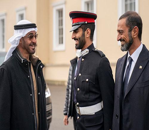 Abu Dhabi Crown Prince Attends Son's, Emirati Cadets' Graduation at Sandhurst