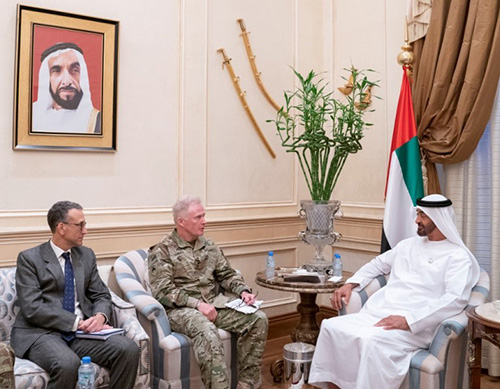 Abu Dhabi Crown Prince Meets Commander of US Special Operations Command