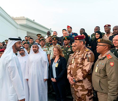 Abu Dhabi Crown Prince Receives 80 International Officers